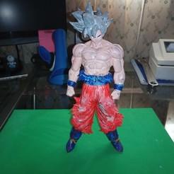 Descargar archivos STL gratis Goku Ultra Instinto Dragon Ball Z, Gatober