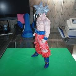 Imprimir en 3D gratis Goku Ultra Instinct Dragon Ball Z, Gatober