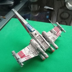 Imprimir en 3D gratis Star Wars x wing fighter Nave espacial Star Wars, Gatober
