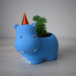 Télécharger fichier impression 3D Pot de fleurs Hippo, jardinières, sultanovilnur