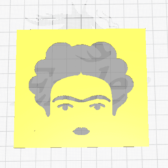 Download 3D printing models Stencil Frida, chesti142
