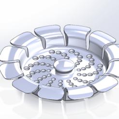 Rejilla cocina 00.png Download STL file Kitchen sink grill, bowl • 3D printer model, gaunadesign