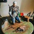 Descargar modelo 3D gratis Geralt meditando, uki123123
