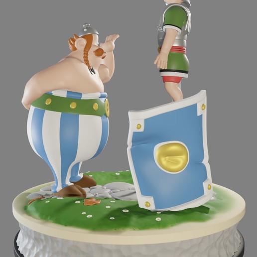 obe7.jpg Descargar archivo STL FANART - Obélix abofetea a un legionario romano - Diorama • Objeto para impresora 3D, foxgraph