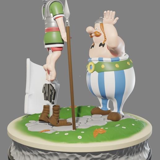 obe6.jpg Descargar archivo STL FANART - Obélix abofetea a un legionario romano - Diorama • Objeto para impresora 3D, foxgraph