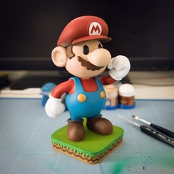 Download 3D print files FANART - 3D PAPER MARIO - DIORAMA, foxgraph