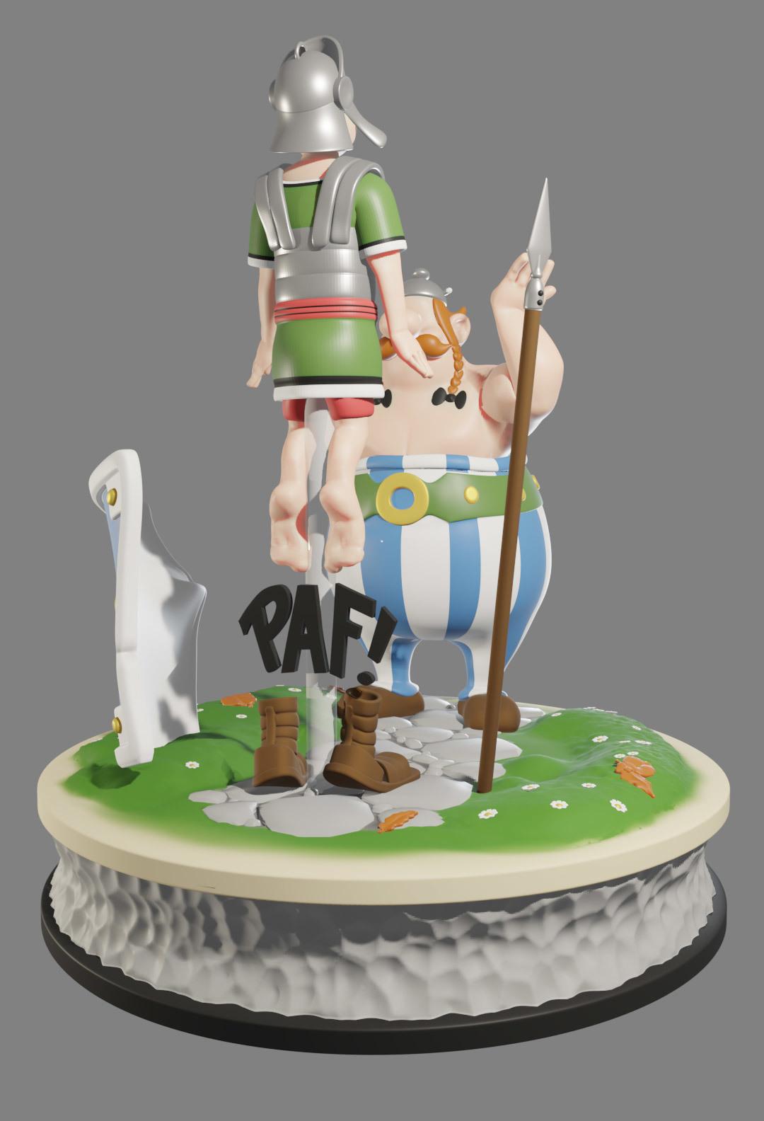 obe8.jpg Descargar archivo STL FANART - Obélix abofetea a un legionario romano - Diorama • Objeto para impresora 3D, foxgraph
