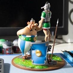 3.jpg Télécharger fichier STL FANART - Obélix baffe un légionnaire romain - Diorama • Objet imprimable en 3D, foxgraph