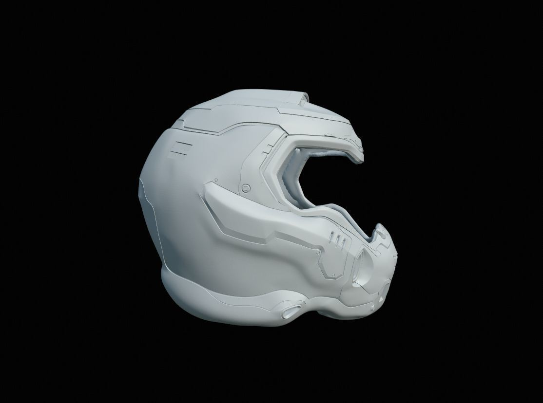 Download 3d Model Doom Slayer Helmet Cults