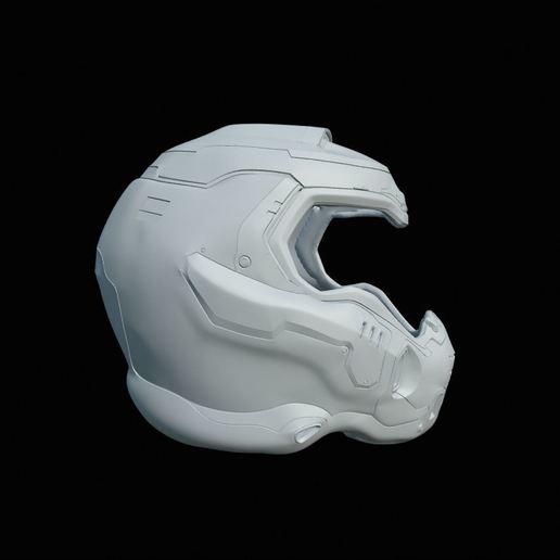 Download 3d Model Doom Slayer Helmet Cults