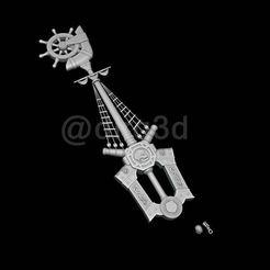 King-01.jpg Download STL file Kingdom Hearts Keyblade • 3D printable template, dirq3d