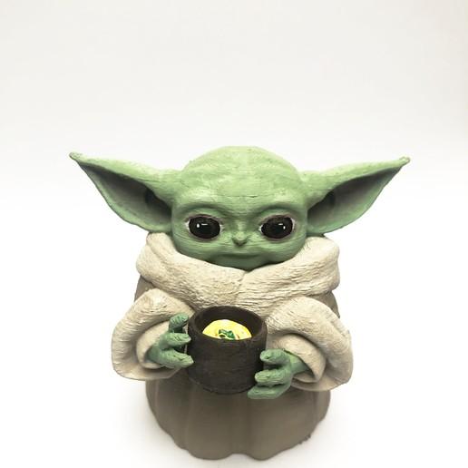 Télécharger fichier impression 3D Bébé Yoda l'enfant mandalorien - FanArt 3D - Impression 3D, onlyik