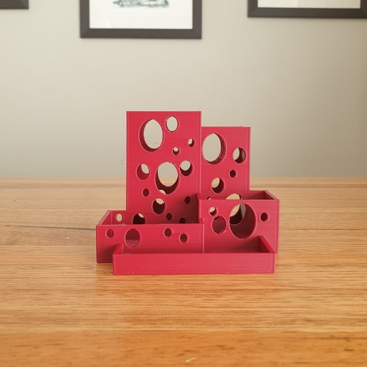 Download free 3D printer designs Bubble pencil pot desk tidy, CheesmondN