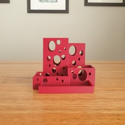 Download free 3D printer designs Bubble pencil pot desk tidy, CheesmondN