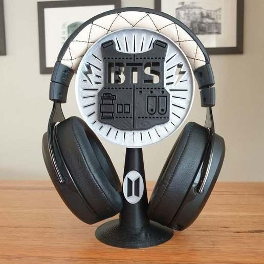20201016_074800.jpg Télécharger fichier STL gratuit Support pour casque d'écoute BTS • Design pour imprimante 3D, CheesmondN