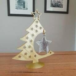 20201215_151628.jpg Télécharger fichier STL gratuit Boule de Noël en forme d'étoile • Design à imprimer en 3D, CheesmondN
