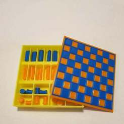 Download free 3D printer files Pocket chess, CheesmondN