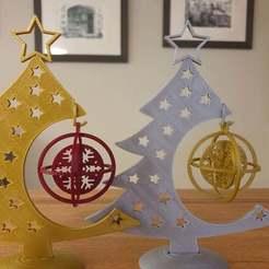 20201210_194757.jpg Télécharger fichier STL gratuit Boule de Noël en forme de flocon de neige avec des anneaux • Plan pour imprimante 3D, CheesmondN