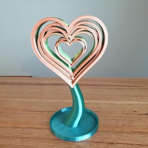 20200820_101734.jpg Télécharger fichier STL gratuit Support ou ornement pour casque d'écoute Love Hearts • Design pour imprimante 3D, CheesmondN