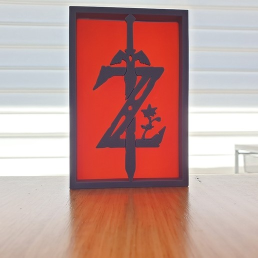 20200903_122456.jpg Télécharger fichier STL gratuit Ornements de silhouette Zelda • Plan imprimable en 3D, CheesmondN