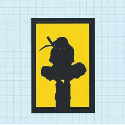 Naruto silhouette.png Télécharger fichier STL gratuit Ornement de silhouette de Naruto • Plan pour imprimante 3D, CheesmondN