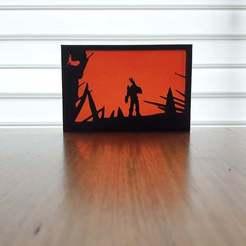 20201024_134058.jpg Télécharger fichier STL gratuit Art de la silhouette DOOM • Modèle imprimable en 3D, CheesmondN