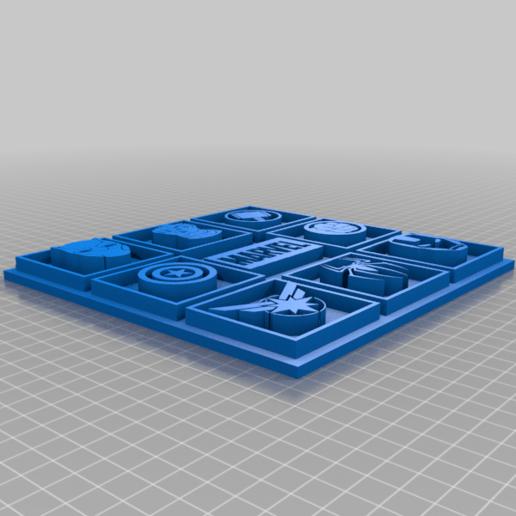 Marvel_Picture_with_wall_fixing.png Télécharger fichier STL gratuit Photo Marvel • Modèle pour imprimante 3D, CheesmondN
