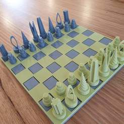 Download free STL file Chess set with storage box • 3D printing template, CheesmondN