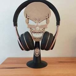 c20201102_072500.jpg Download free STL file Skull headphone stand • 3D print design, CheesmondN