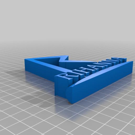 Rihanna_Ornament.png Télécharger fichier STL gratuit Ornement de Rihanna • Modèle imprimable en 3D, CheesmondN