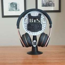 20201016_074555.jpg Download free STL file BTS Headphone Stand • 3D printer template, CheesmondN