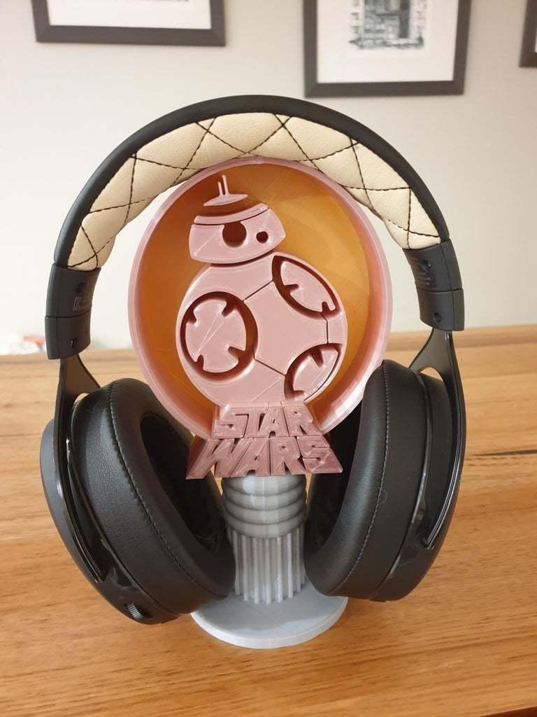 20200704_180558.jpg Télécharger fichier STL gratuit Support pour casque d'écoute BB8 Star Wars • Objet à imprimer en 3D, CheesmondN