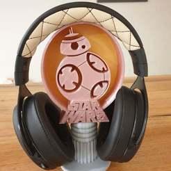 Télécharger fichier STL gratuit Support pour casque d'écoute BB8 Star Wars • Objet à imprimer en 3D, CheesmondN