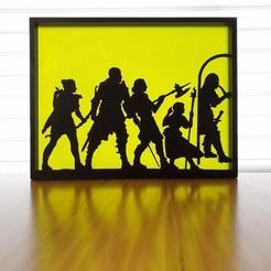 20200827_100657.jpg Download free STL file Dungeons and Dragons Silhouette Art • 3D print design, CheesmondN