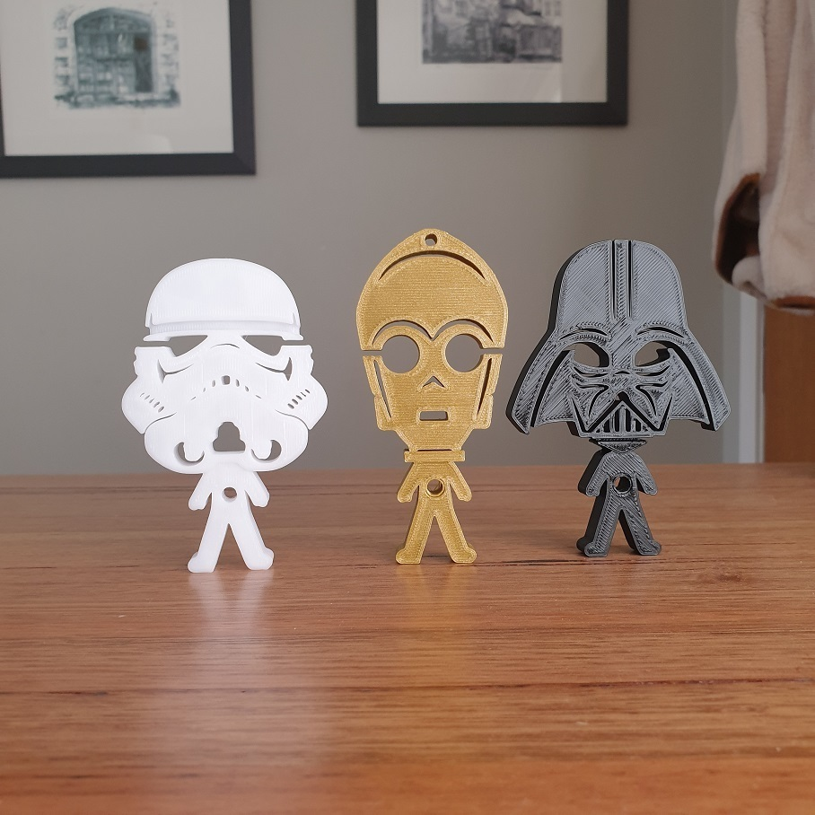 20200902_152247.jpg Télécharger fichier STL gratuit Porte-écouteurs Star Wars • Design pour impression 3D, CheesmondN
