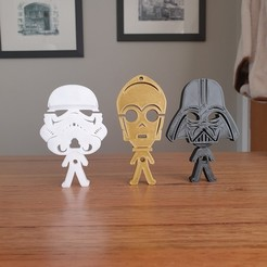 Download free STL file Star Wars earphones earbuds holder • 3D printer object, CheesmondN