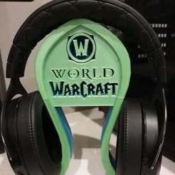 Télécharger fichier STL gratuit Support pour casque d'écoute World of Warcraft • Modèle à imprimer en 3D, CheesmondN