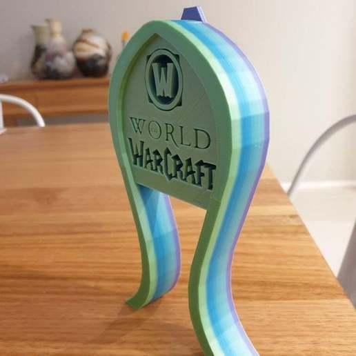 20200429_062136.jpg Télécharger fichier STL gratuit Support pour casque d'écoute World of Warcraft • Modèle à imprimer en 3D, CheesmondN