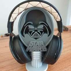 Download free 3D printer designs Star Wars Darth Vader Headphones Stand, CheesmondN