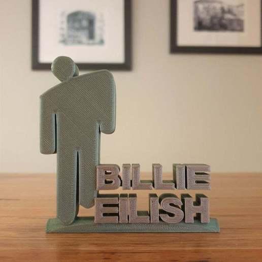 BE.jpg Télécharger fichier STL gratuit Ornement de Billie Eilish • Modèle pour impression 3D, CheesmondN