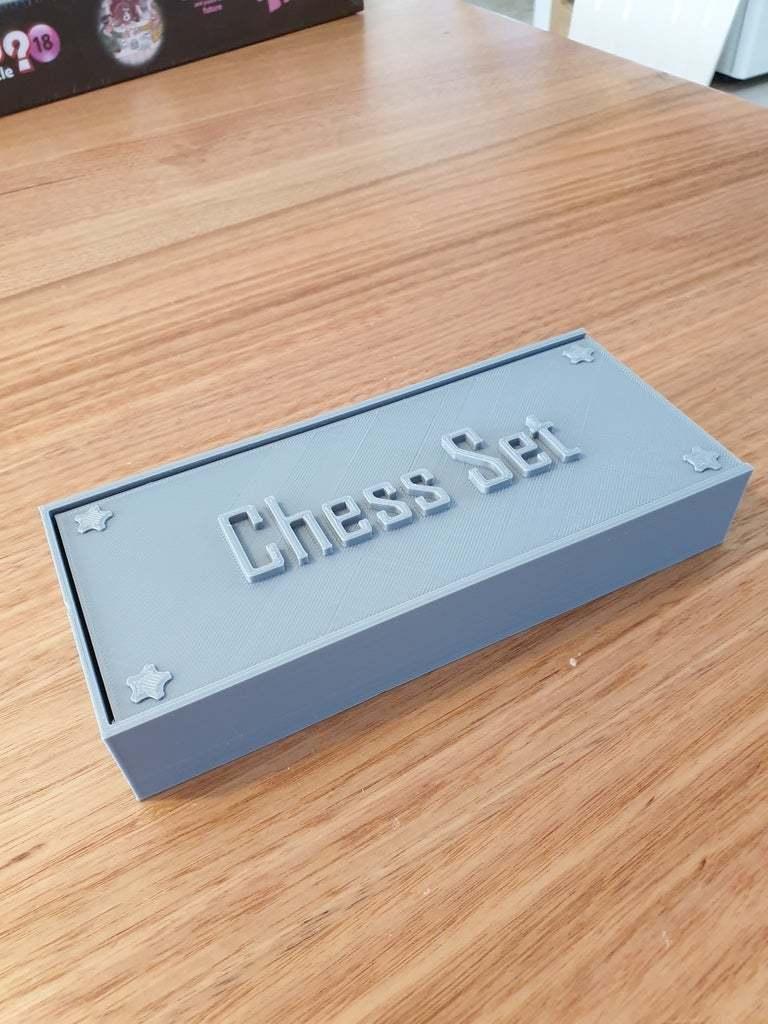 20200425_110208.jpg Download free STL file Chess set with storage box • 3D printing template, CheesmondN