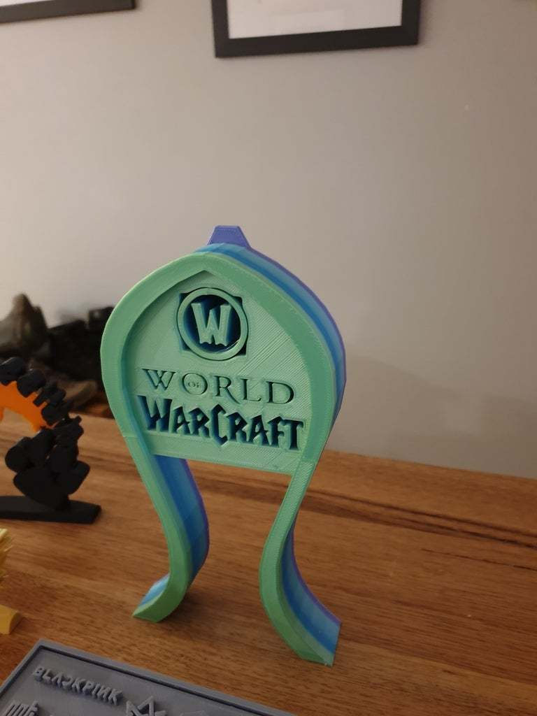 20200429_062408.jpg Télécharger fichier STL gratuit Support pour casque d'écoute World of Warcraft • Modèle à imprimer en 3D, CheesmondN