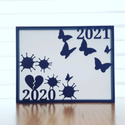 Untitled.png Download free STL file New Year Silhouette Art • 3D printing template, CheesmondN