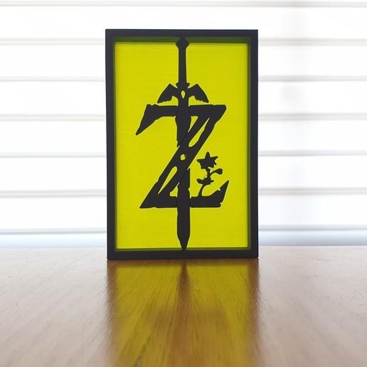 20200903_082735.jpg Télécharger fichier STL gratuit Ornements de silhouette Zelda • Plan imprimable en 3D, CheesmondN