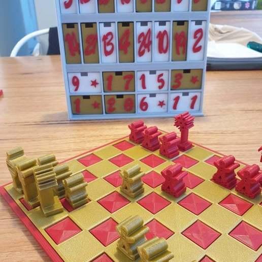 Download free STL file Christmas Advent Calendar Chess • Model to 3D print, CheesmondN