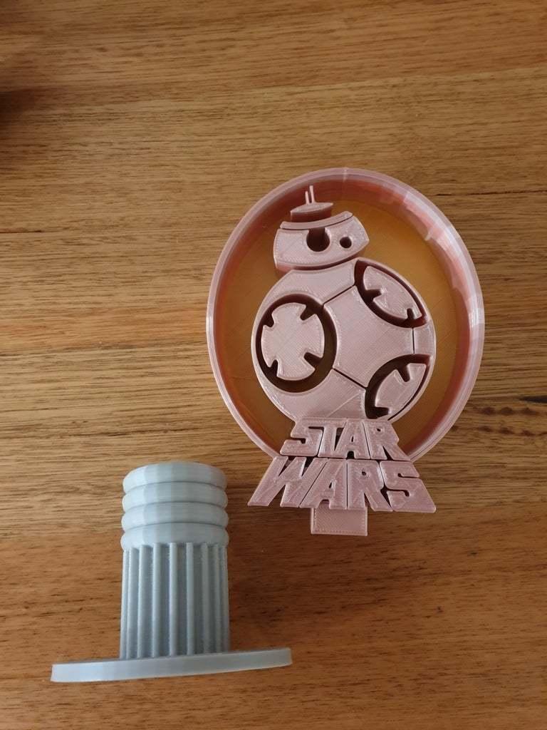 20200704_180637.jpg Télécharger fichier STL gratuit Support pour casque d'écoute BB8 Star Wars • Objet à imprimer en 3D, CheesmondN