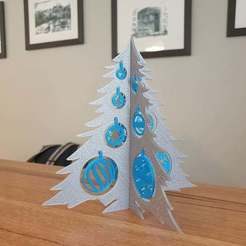 20201202_163212.jpg Download free STL file Christmas tree and baubles ornament • 3D printer template, CheesmondN