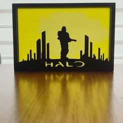 20201020_163707.jpg Télécharger fichier STL gratuit Art de la silhouette au halo • Objet pour imprimante 3D, CheesmondN