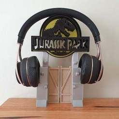 20201122_121049.jpg Download free STL file Jurassic Park Headphone Stand or Ornament • Design to 3D print, CheesmondN