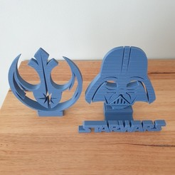 Download free STL file Star Wars Phone Stand (2 designs) • 3D print object, CheesmondN